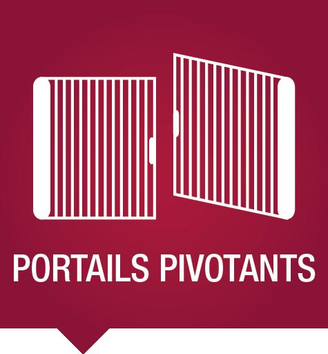 Portails pivotants